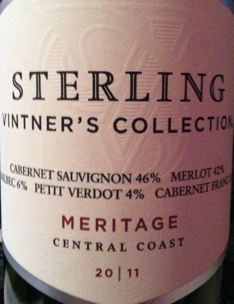 2011 Sterling Vintner's Collection Meritage, Central Coast