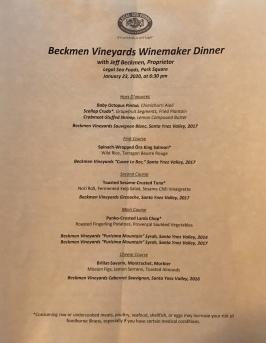 Beckmen-Menu